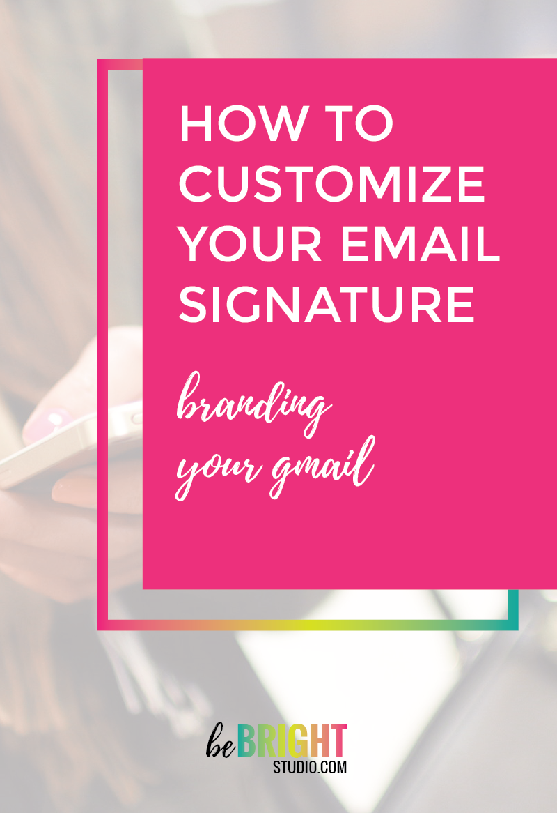 How to customize your gmail signature