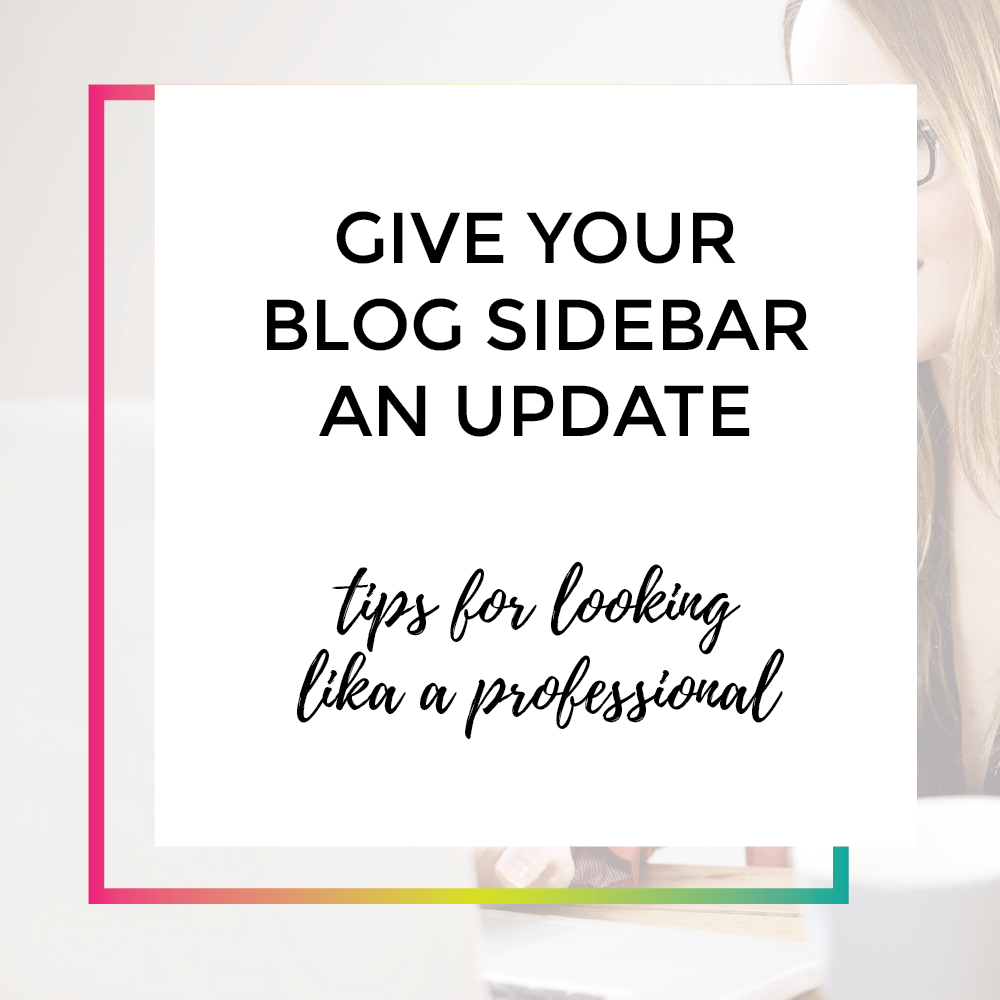 Give your blog sidebar and update