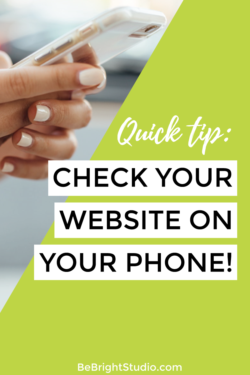 Quick tip for your website - check how it looks on your phone!